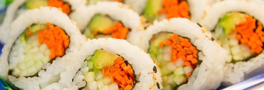 Plats de sushi à emporter